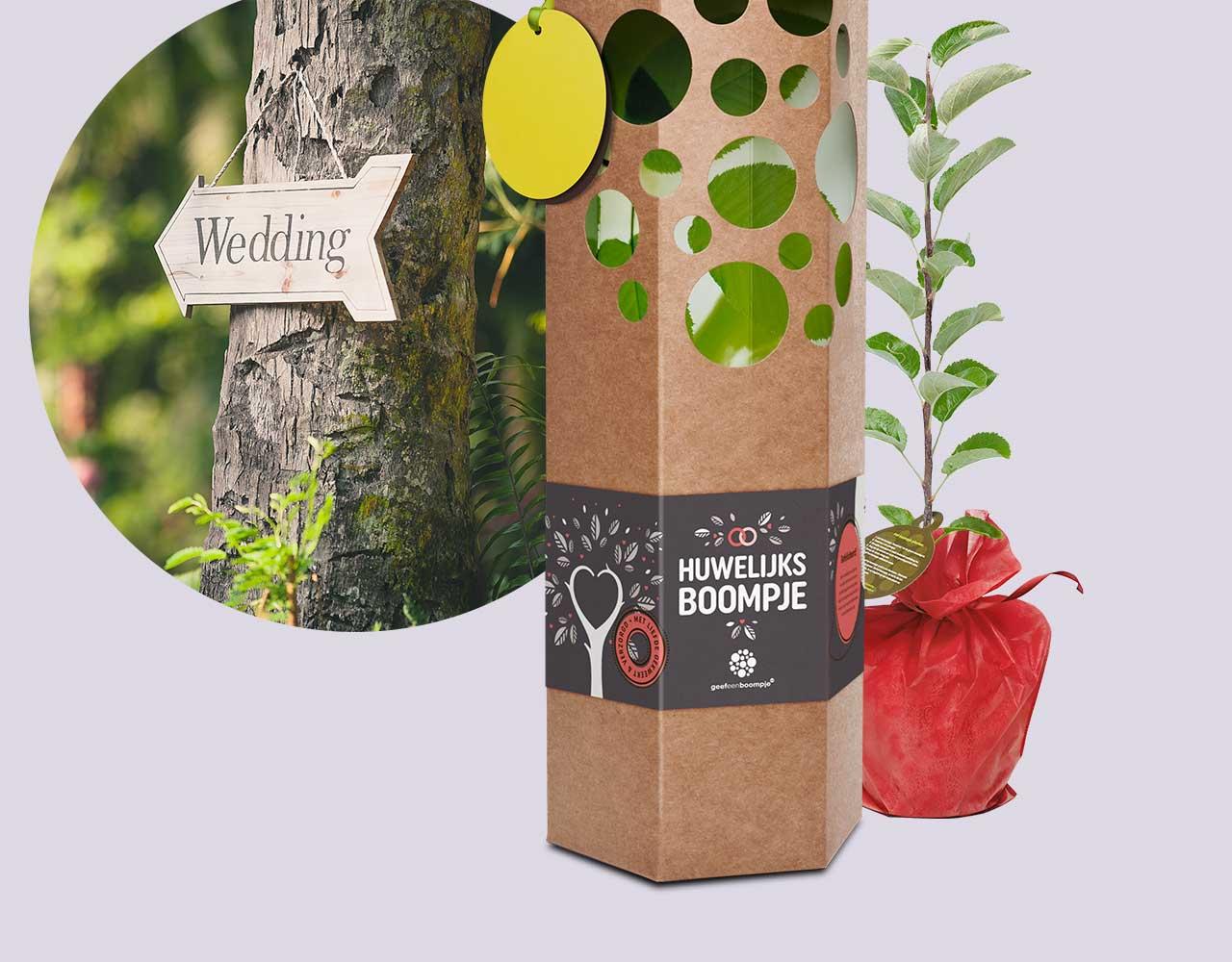 Huwelijkscadeau Huwelijksboom Geefeenboompjenl